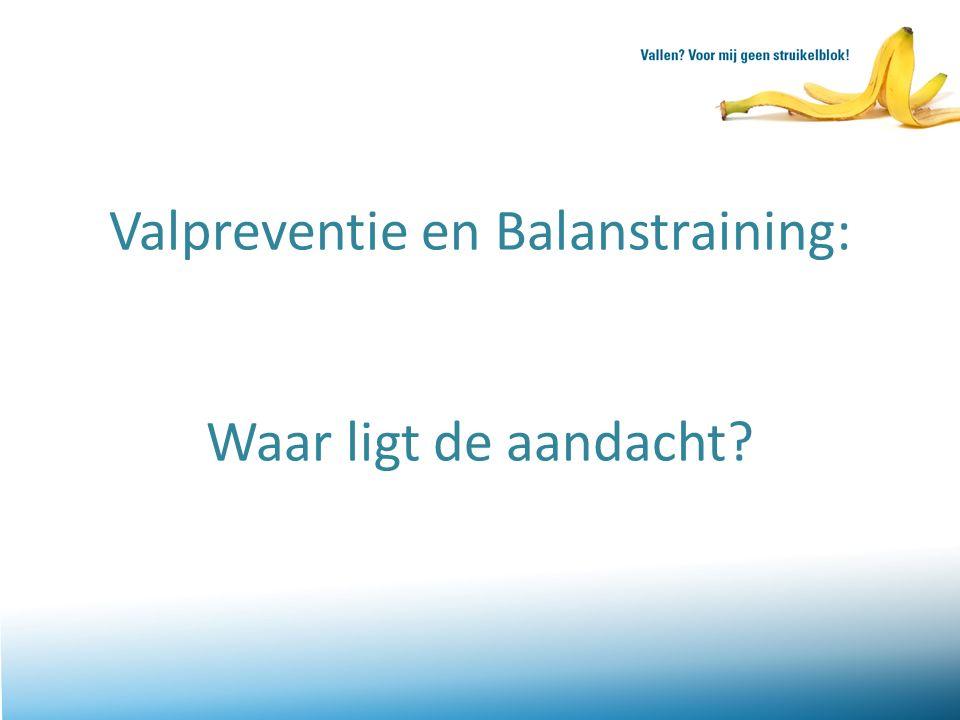 Valpreventie en Balanstraining: Waar ligt de aandacht?