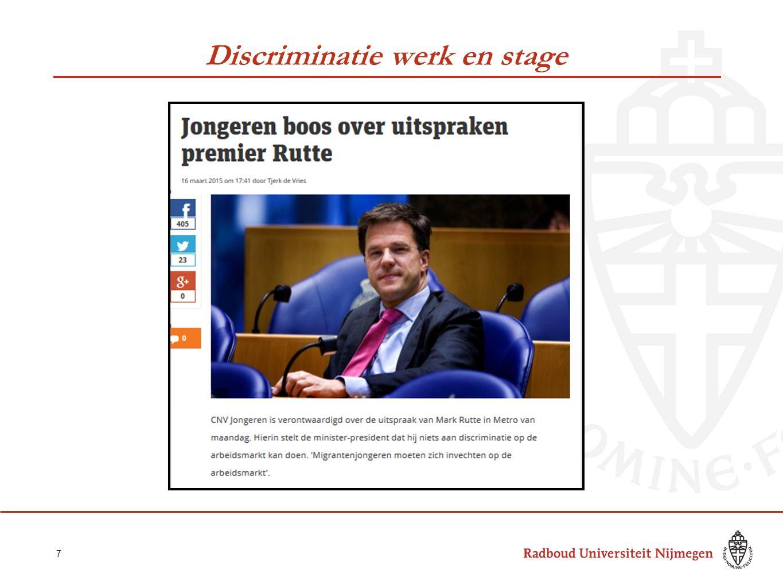 Discriminatie werk en stage 7