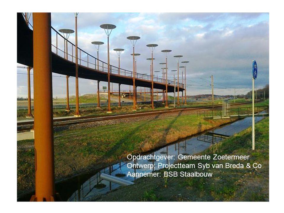Opdrachtgever: Gemeente Zoetermeer Ontwerp: Projectteam Syb van Breda & Co Aannemer: BSB Staalbouw