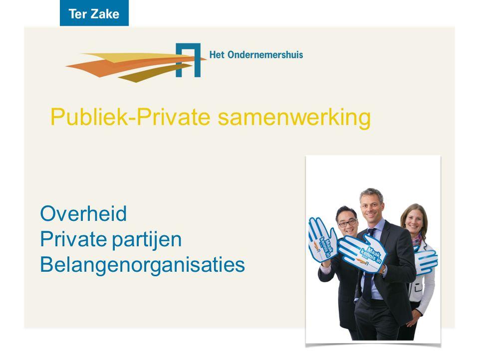 Publiek-Private samenwerking Overheid Private partijen Belangenorganisaties