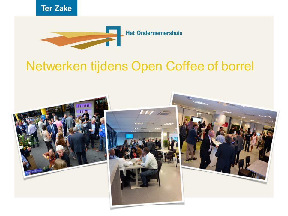 Netwerken tijdens Open Coffee of borrel