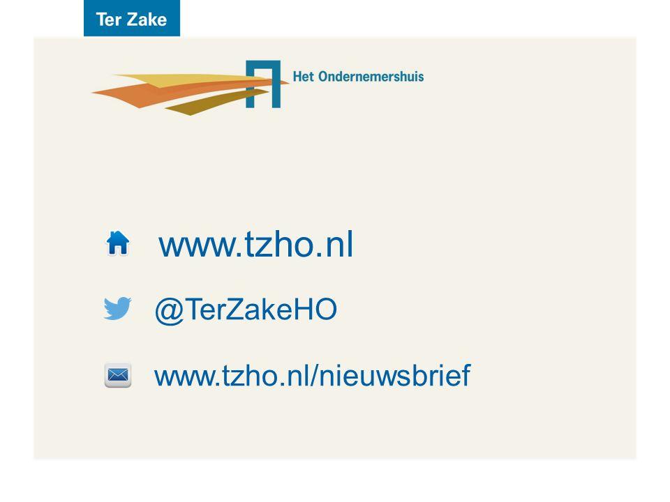 www.tzho.nl @TerZakeHO www.tzho.nl/nieuwsbrief