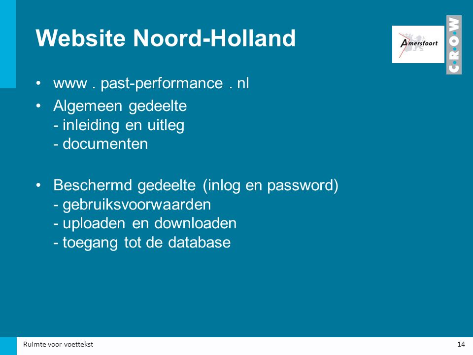 Website Noord-Holland www. past-performance.