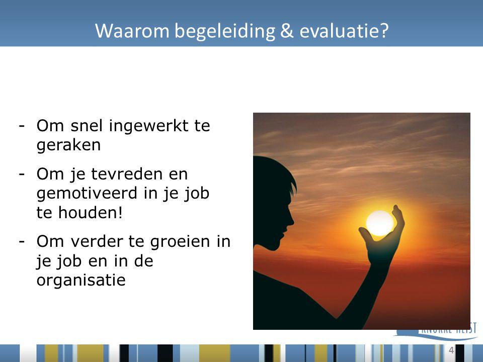 4 Waarom begeleiding & evaluatie.
