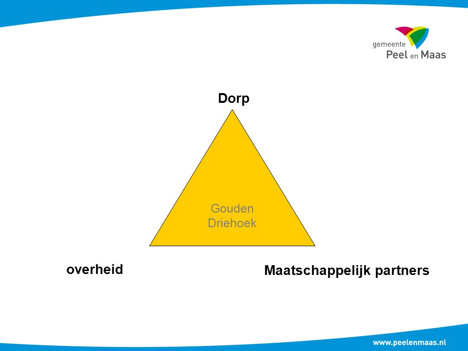overheid Dorp Maatschappelijk partners Gouden Driehoek