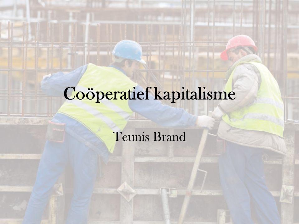 Coöperatief kapitalisme Teunis Brand