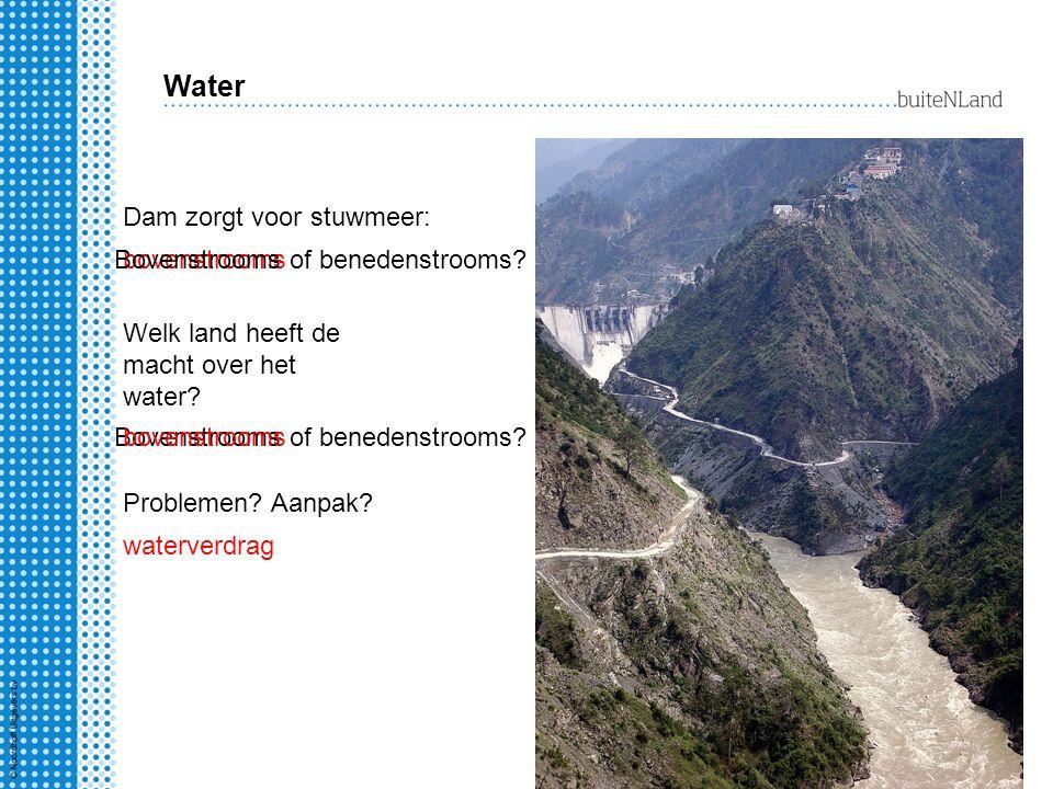 Water Dam zorgt voor stuwmeer: bovenstroomsBovenstrooms of benedenstrooms? Welk land heeft de macht over het water? Bovenstrooms of benedenstrooms?bov