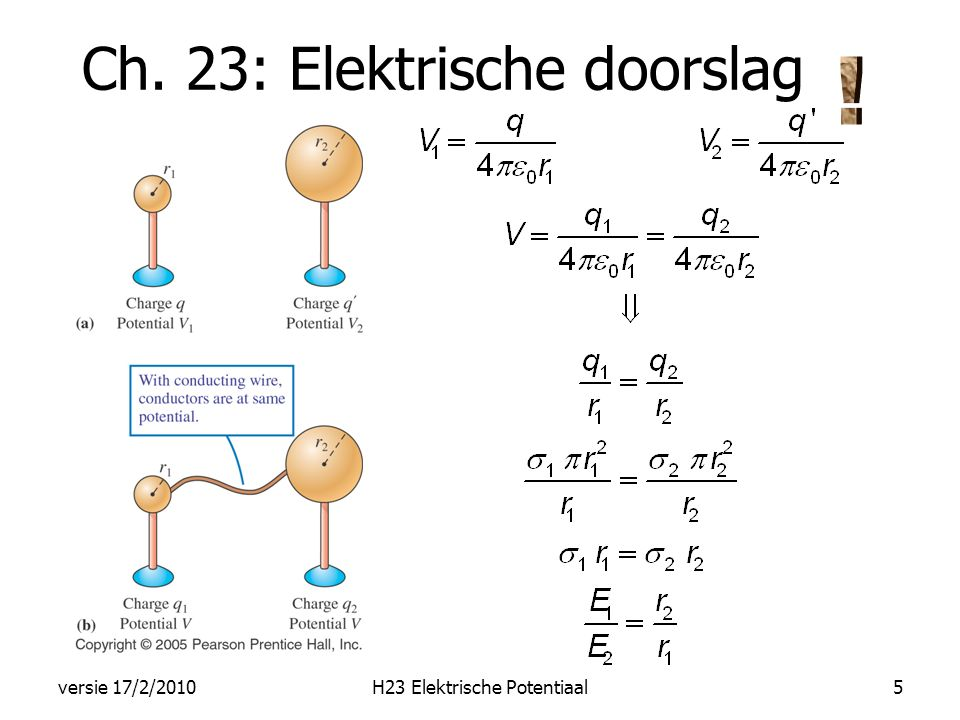 verband tussen E en V H23 Elektrische Potentiaalversie 17/2/20106