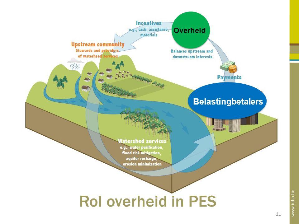 11 PES definitie Overheid Belastingbetalers Rol overheid in PES