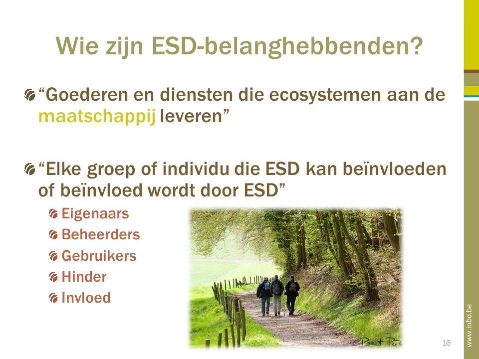 16 Wie zijn ESD-belanghebbenden.