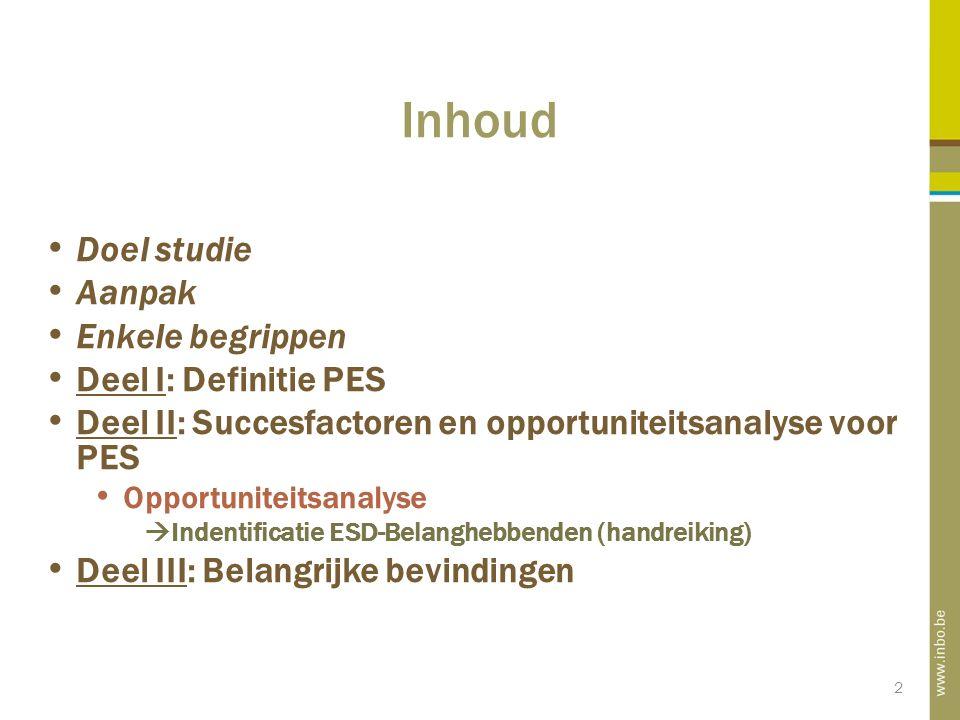 33 Voorbeeld opportuniteitsanalyse CASE STUDIE: Melsterbeek