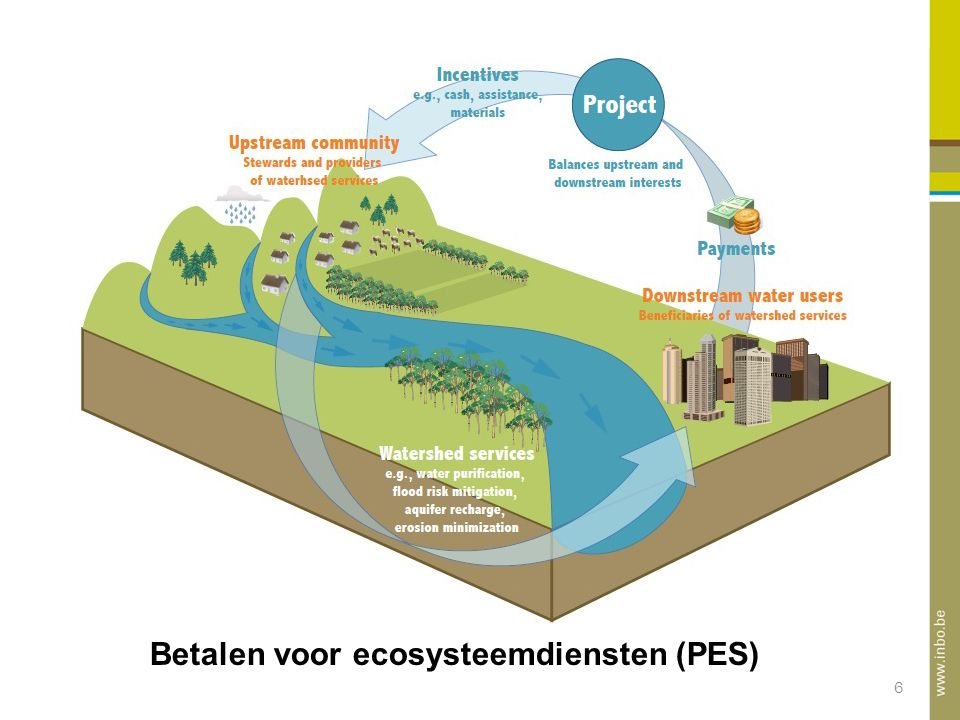 6 PES definitie Betalen voor ecosysteemdiensten (PES)