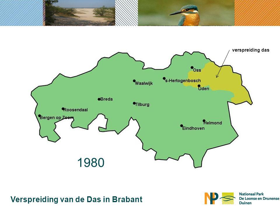1980 Verspreiding van de Das in Brabant verspreiding das