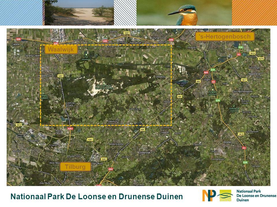 Tilburg s-Hertogenbosch Waalwijk Nationaal Park De Loonse en Drunense Duinen