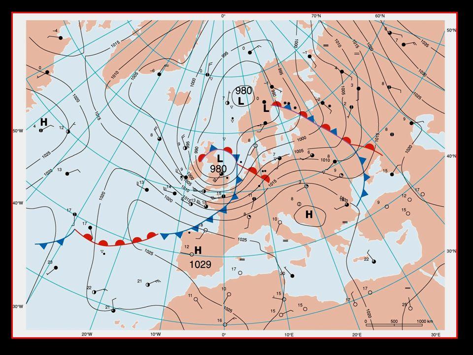 stormdepressie van 27 oktober koufront warmtefront occlusiefront W.S. L H H