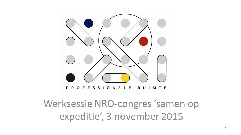Werksessie NRO-congres 'samen op expeditie', 3 november 2015 2