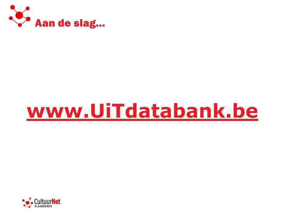 Je aanmelden op www.uitdatabank.be