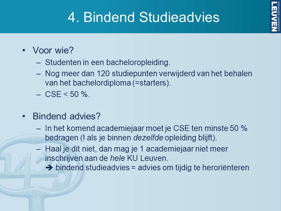 4. Bindend Studieadvies Voor wie. –Studenten in een bacheloropleiding.