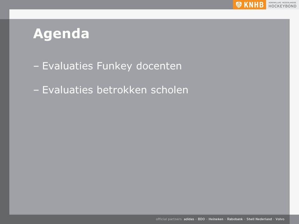 Agenda –Evaluaties Funkey docenten –Evaluaties betrokken scholen