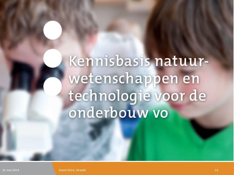 21 mei 2014Ecent 2014, Utrecht15