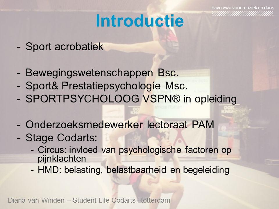 Introductie -Sport acrobatiek -Bewegingswetenschappen Bsc. -Sport& Prestatiepsychologie Msc. -SPORTPSYCHOLOOG VSPN® in opleiding -Onderzoeksmedewerker