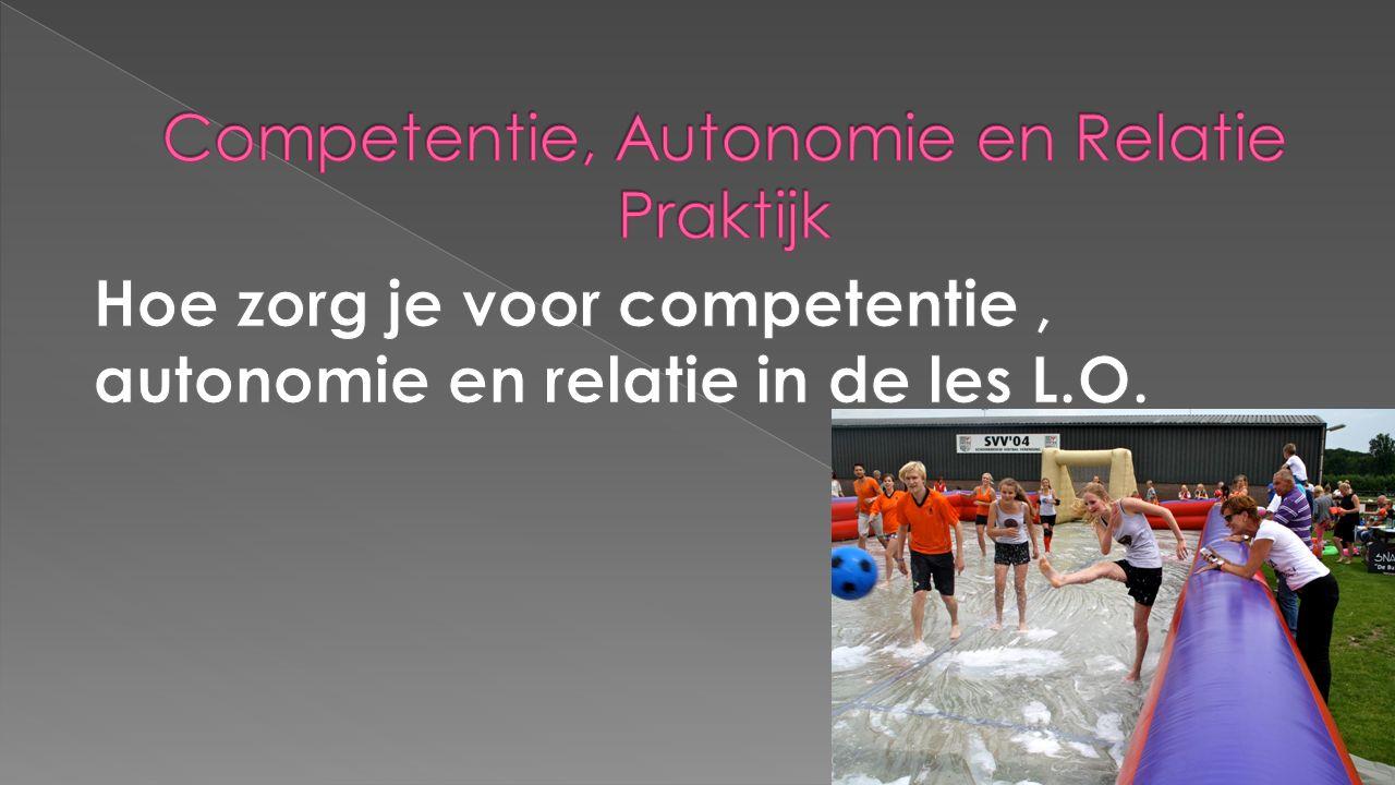  Overlegsituaties verbeteren  Samenwerken om tot sportprogramma te komen  Accepteren van interesses  Eigen keuzes kunnen toepassen  Ontwikkelen eigen competenties