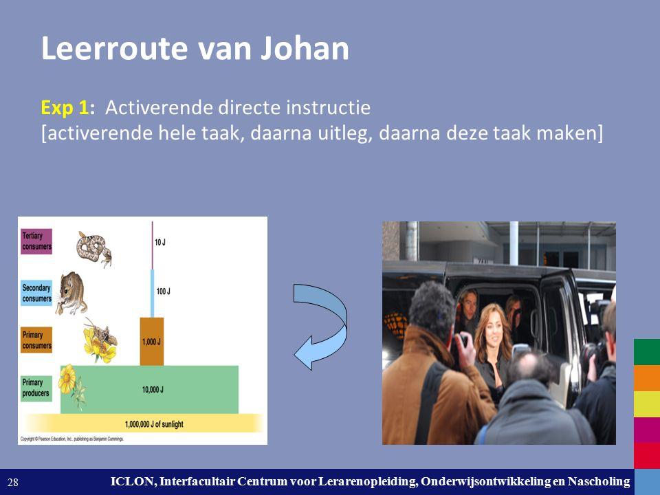 Leiden University. The university to discover. ICLON, Interfacultair Centrum voor Lerarenopleiding, Onderwijsontwikkeling en Nascholing 28 Leerroute v