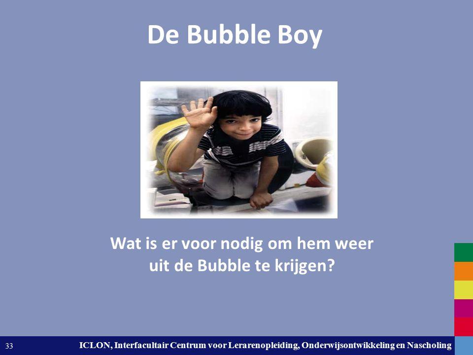 Leiden University. The university to discover. ICLON, Interfacultair Centrum voor Lerarenopleiding, Onderwijsontwikkeling en Nascholing 33 De Bubble B