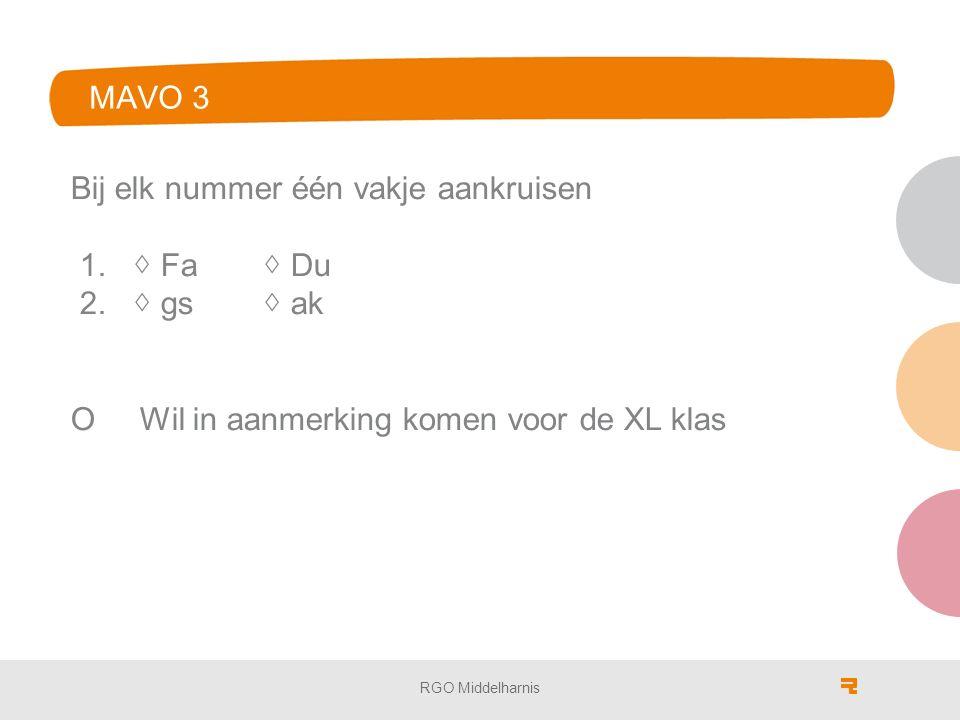 invulformulier MAVO 3 Bij elk nummer één vakje aankruisen 1.
