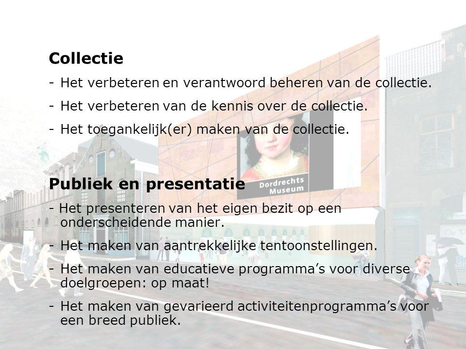 Collectie -Het verbeteren en verantwoord beheren van de collectie.