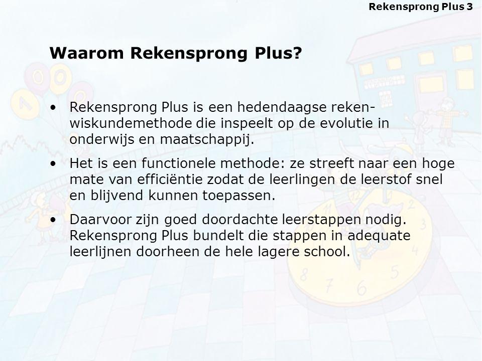 Rekensprong Plus 3 Waarom Rekensprong Plus.