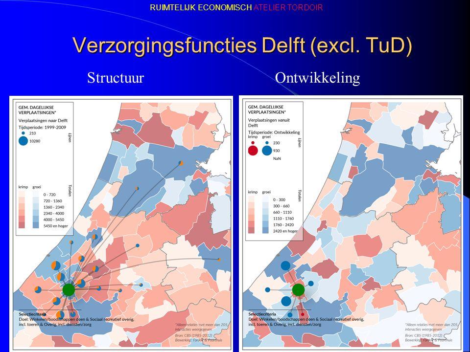 Verzorgingsfuncties Delft (excl. TuD) StructuurOntwikkeling RUIMTELIJK ECONOMISCH ATELIER TORDOIR