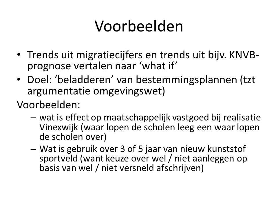 Voorbeelden Trends uit migratiecijfers en trends uit bijv.