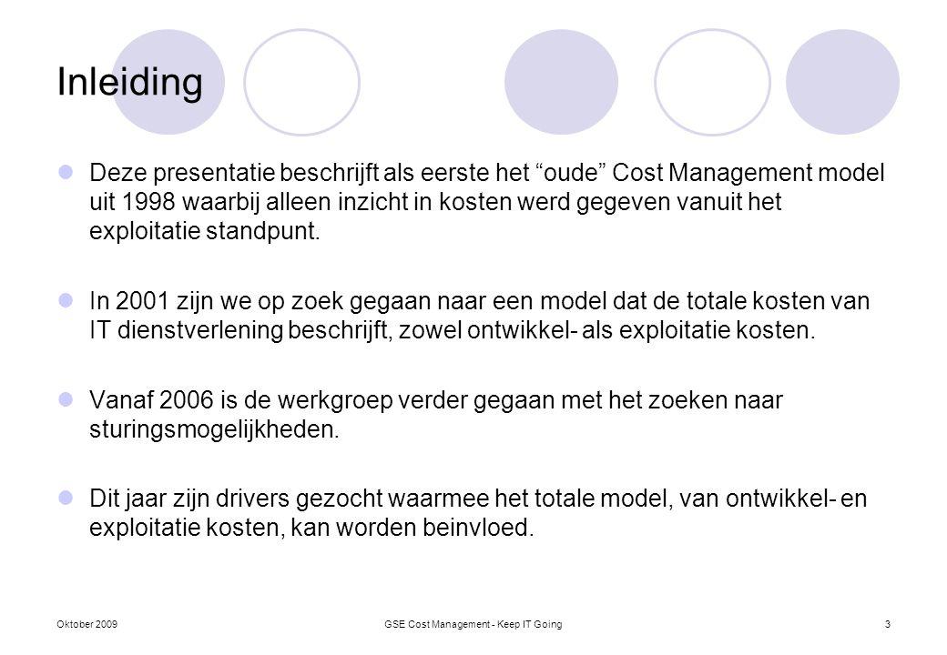 """Inleiding Deze presentatie beschrijft als eerste het """"oude"""" Cost Management model uit 1998 waarbij alleen inzicht in kosten werd gegeven vanuit het ex"""