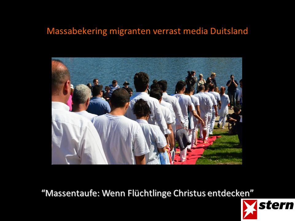 Massabekering migranten verrast media Duitsland Massentaufe: Wenn Flüchtlinge Christus entdecken