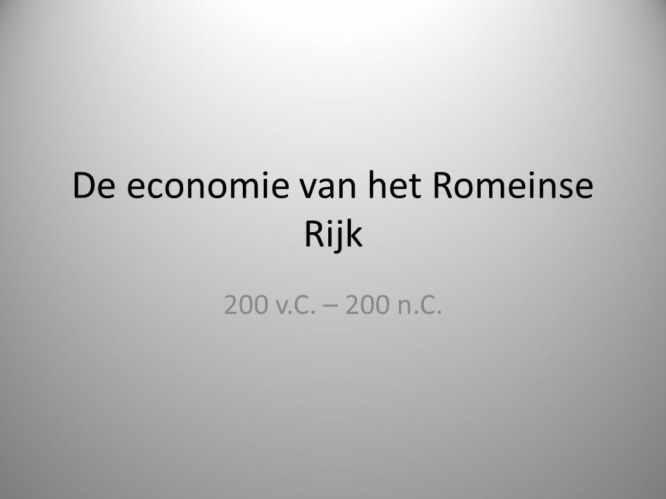 De economie van het Romeinse Rijk 200 v.C. – 200 n.C.