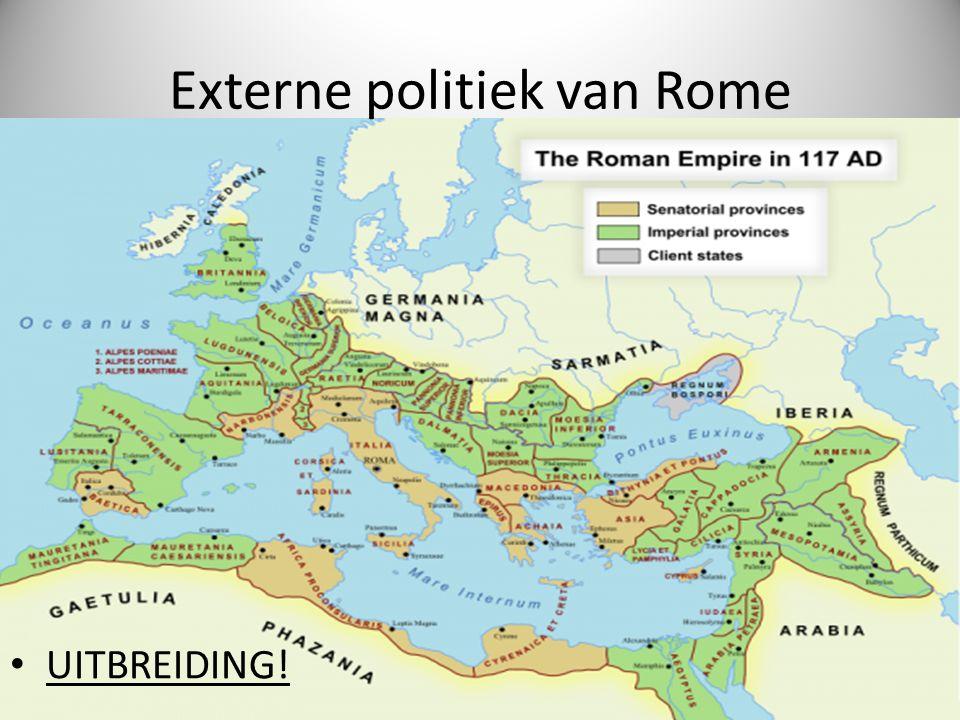 Externe politiek van Rome UITBREIDING!