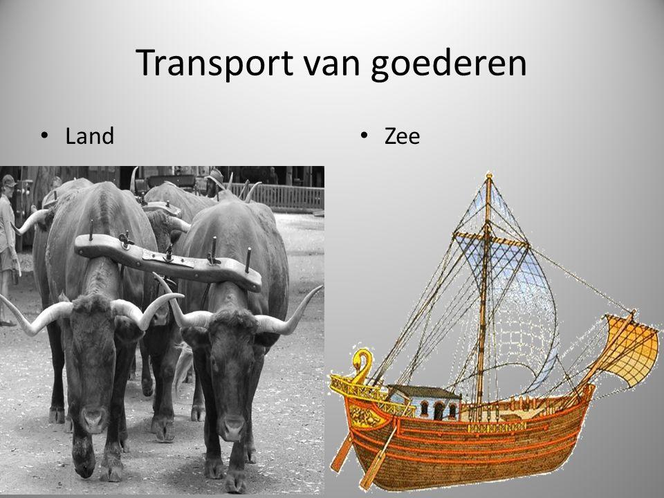 Transport van goederen Land Zee