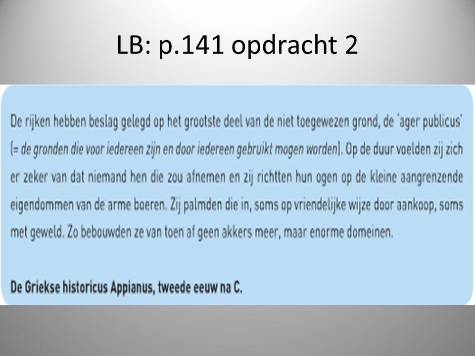 LB: p.141 opdracht 2
