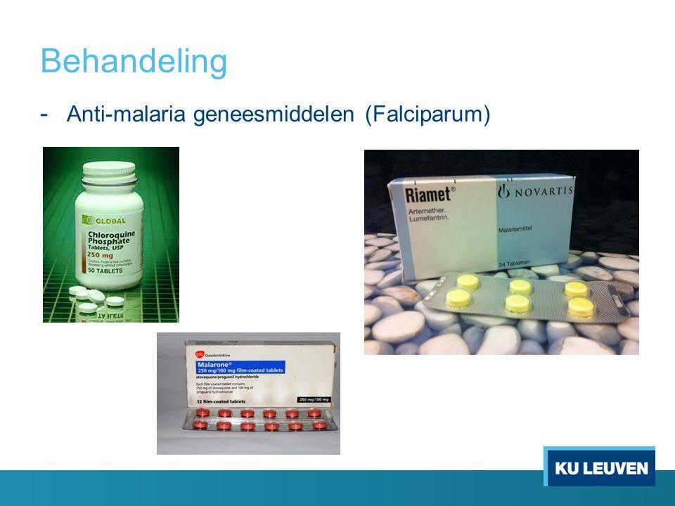 Behandeling - Anti-malaria geneesmiddelen (Falciparum)