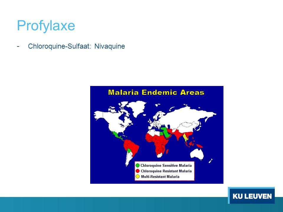 Profylaxe - Chloroquine-Sulfaat: Nivaquine