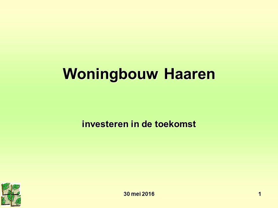 30 mei 20161 Woningbouw Haaren investeren in de toekomst