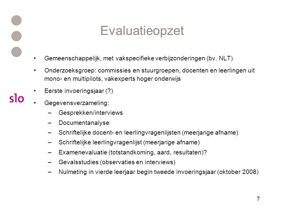7 Evaluatieopzet Gemeenschappelijk, met vakspecifieke verbijzonderingen (bv.