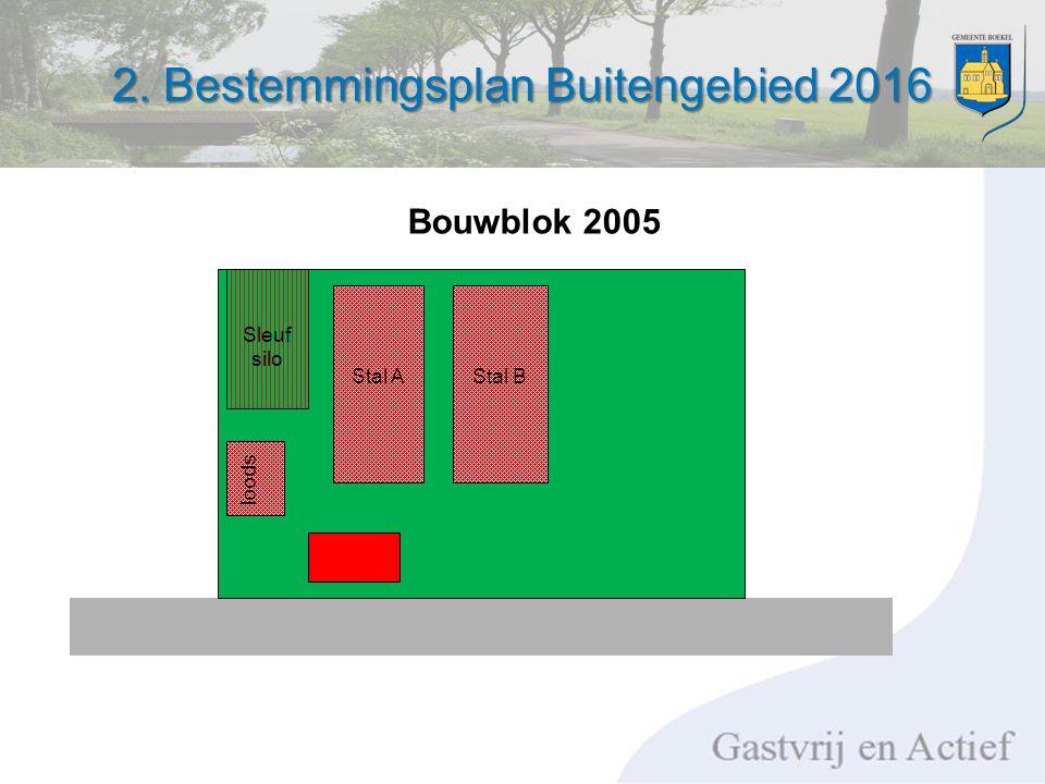 2. Bestemmingsplan Buitengebied 2016 Stal AStal B loods Sleuf silo Bouwblok 2005