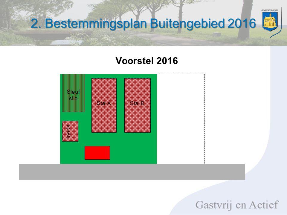 2. Bestemmingsplan Buitengebied 2016 Stal AStal B loods Sleuf silo Voorstel 2016
