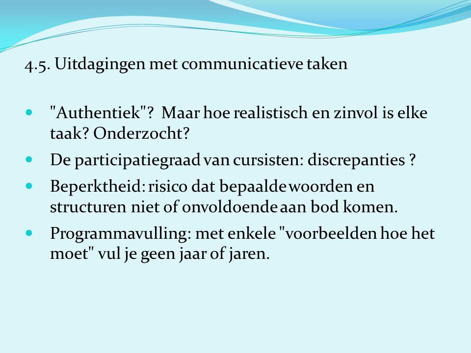 4.5.Uitdagingen met communicatieve taken Authentiek .