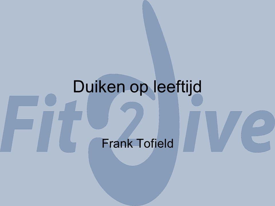 Duiken op leeftijd Frank Tofield