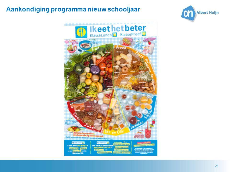 21 Aankondiging programma nieuw schooljaar