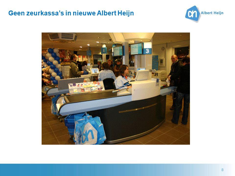 8 Geen zeurkassa's in nieuwe Albert Heijn