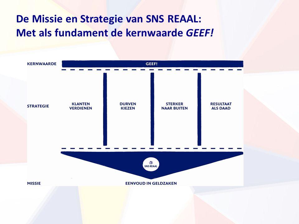 De Missie en Strategie van SNS REAAL: Met als fundament de kernwaarde GEEF!